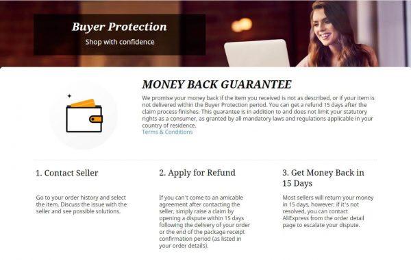 aliexpresss buyer protect